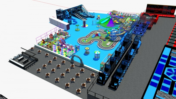 Trampoline Park-Ninja Course big