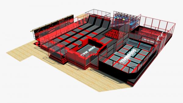 large trampoline park england